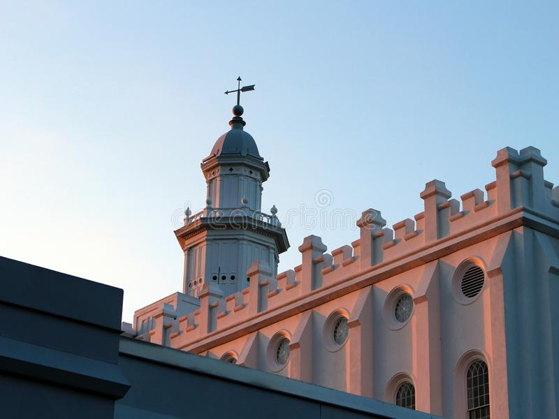 LDS Mormon Temple St George, UT royalty free stock photography
