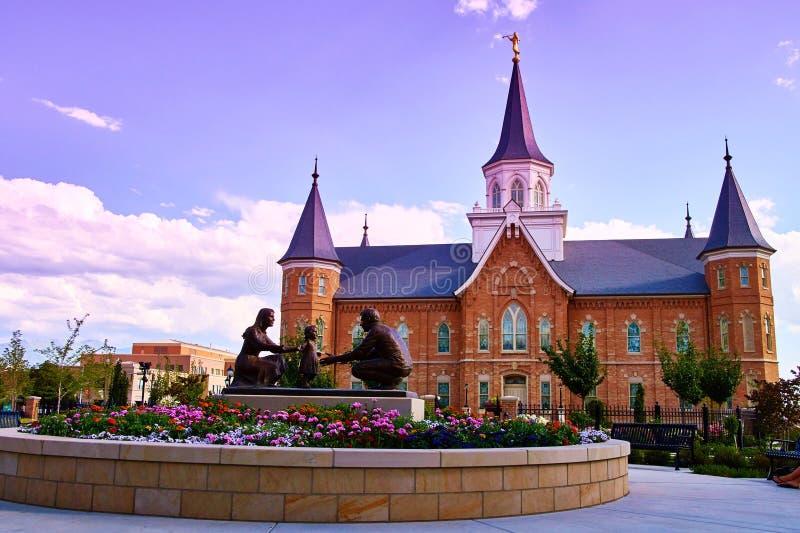 LDS Provo centrum miasta świątynia fotografia royalty free
