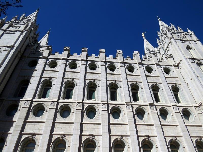 LDS-Tempel in Salt Lake City Utah stock foto's