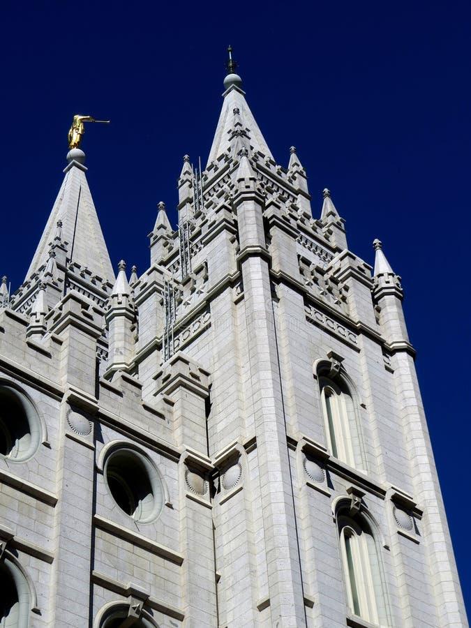 LDS-Tempel in Salt Lake City Utah stockfotos