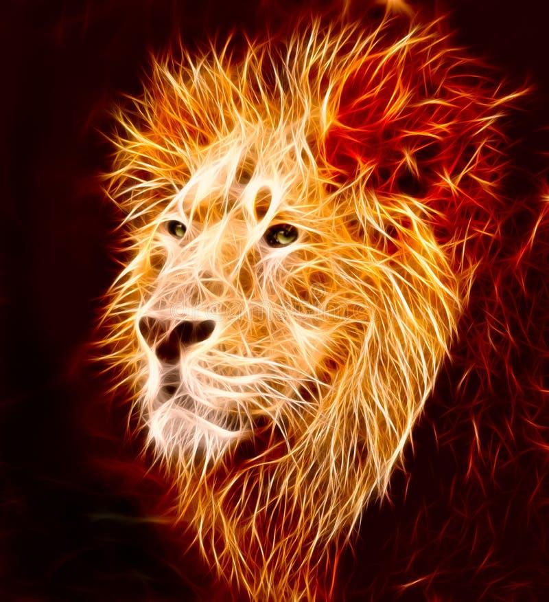 Leão ilustração royalty free