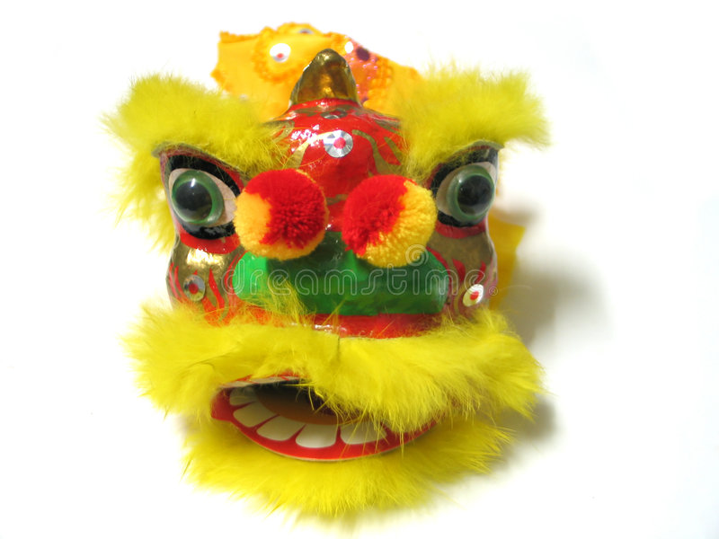 Leão chinês do ano novo imagens de stock royalty free