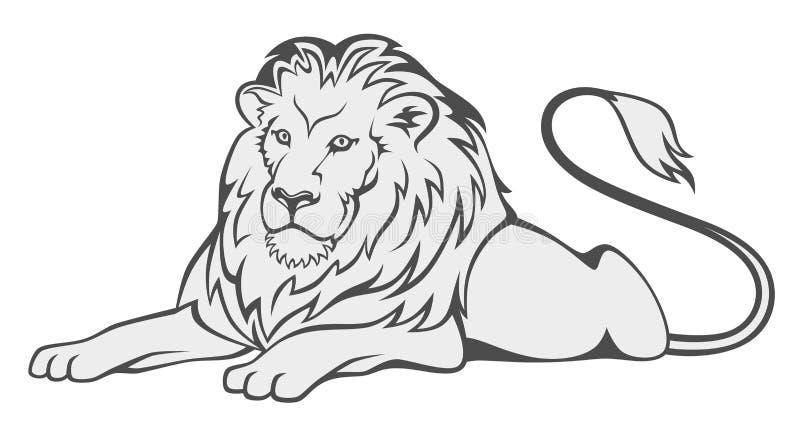 Leão cinzento ilustração do vetor