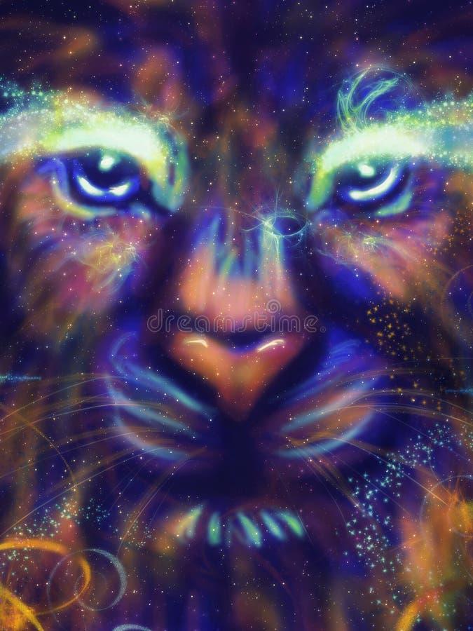 Leão da galáxia ilustração stock