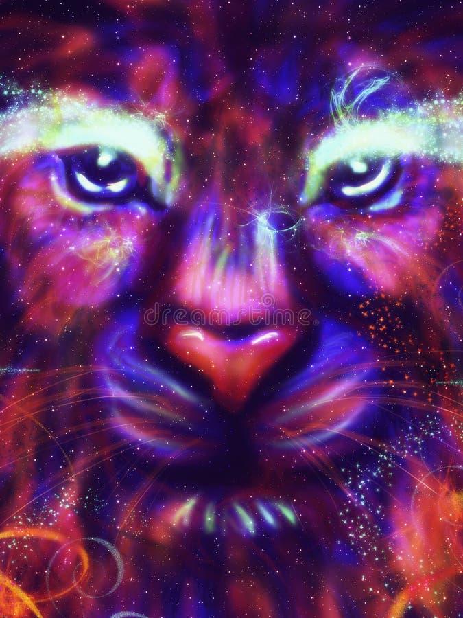Leão da galáxia ilustração do vetor