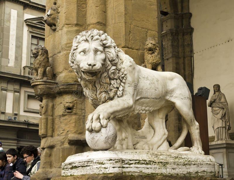 Leão de Medici por Vacca fotografia de stock