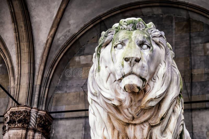 Leão de Munich fotografia de stock