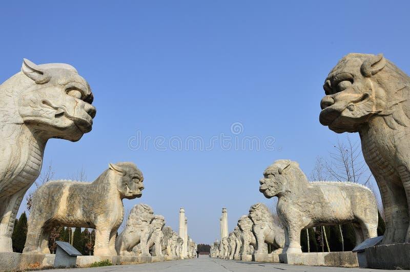 Leão de pedra imagens de stock