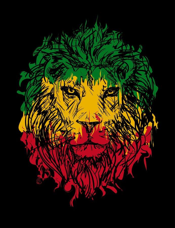 Leão 3 de Rasta ilustração royalty free