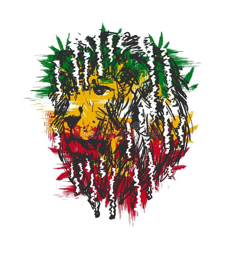 Leão de Rasta ilustração royalty free