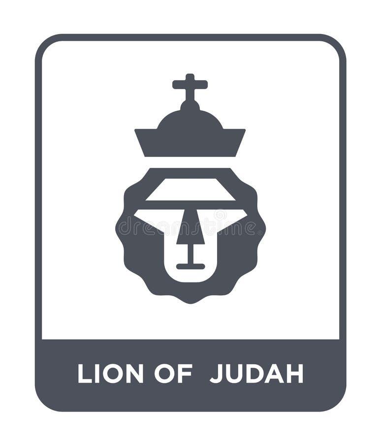 leão do ícone do judah no estilo na moda do projeto leão do ícone do judah isolado no fundo branco leão do ícone do vetor do juda ilustração royalty free