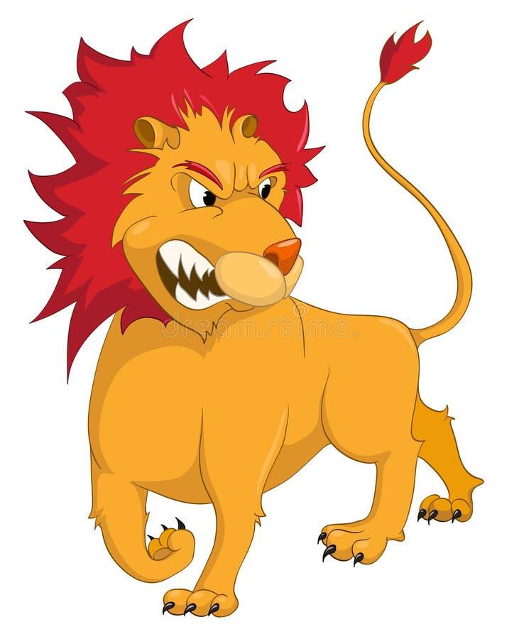 Leão do personagem de banda desenhada ilustração stock