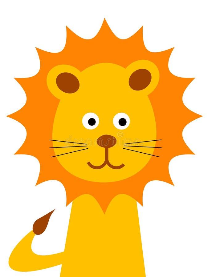 Leão dos desenhos animados ilustração royalty free