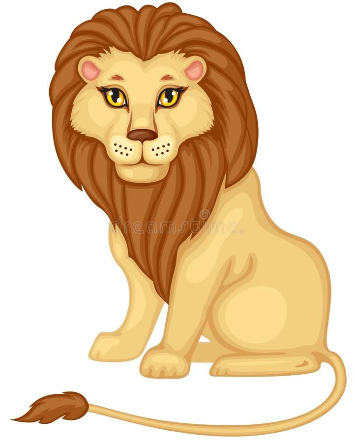 Leão dos desenhos animados ilustração stock