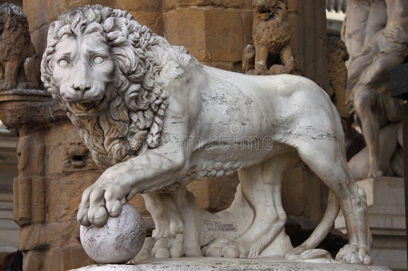Leão em Florença fotografia de stock