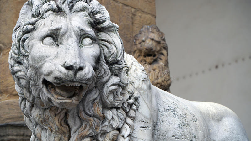 Leão em Florença fotos de stock royalty free