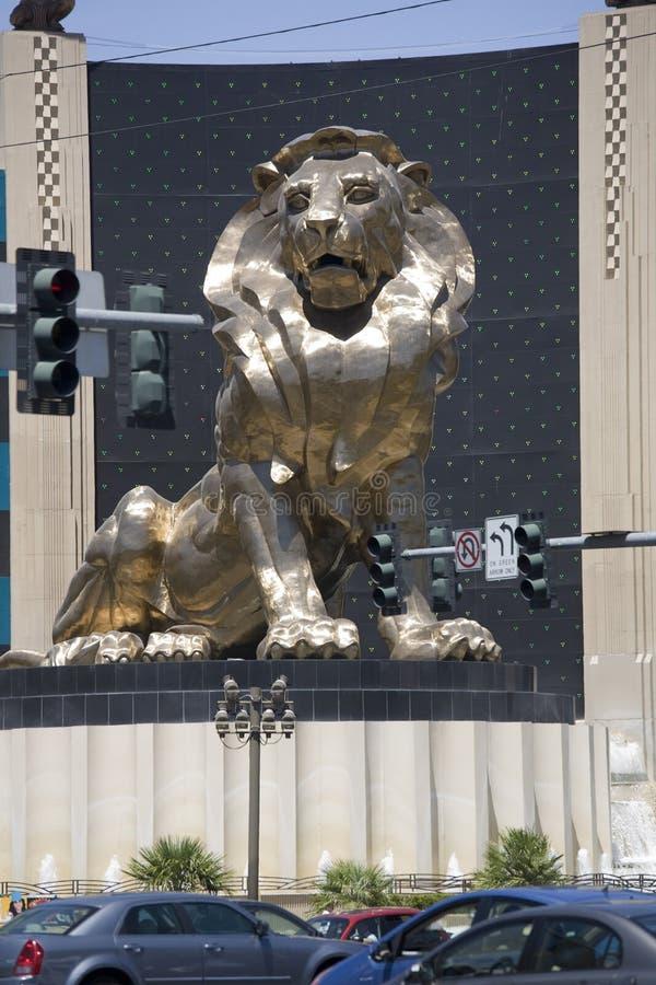 Leão em Las Vegas fotografia de stock royalty free