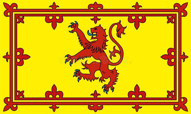 Leão escocês desenfreado ilustração stock