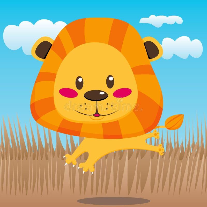Leão feliz ilustração do vetor