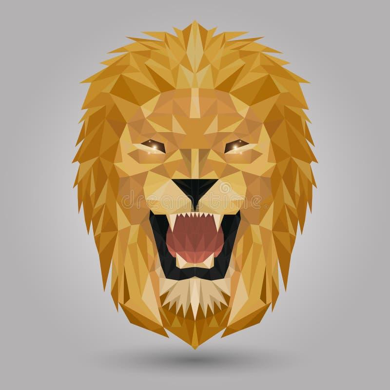 Leão geométrico ilustração stock