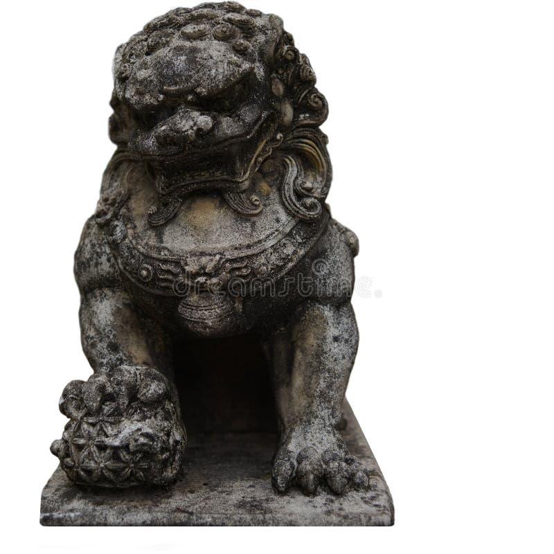 Leão imperial chinês fotografia de stock royalty free