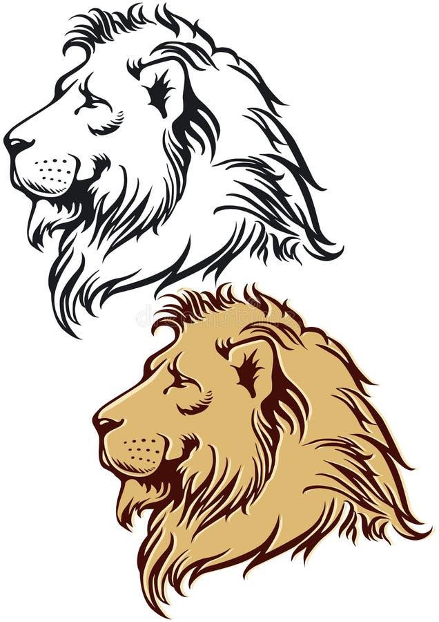 Leão no perfil ilustração stock