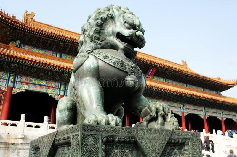 Leão proibido China da cidade fotografia de stock