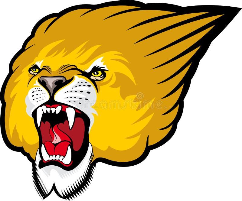 Leão que ruje ilustração stock