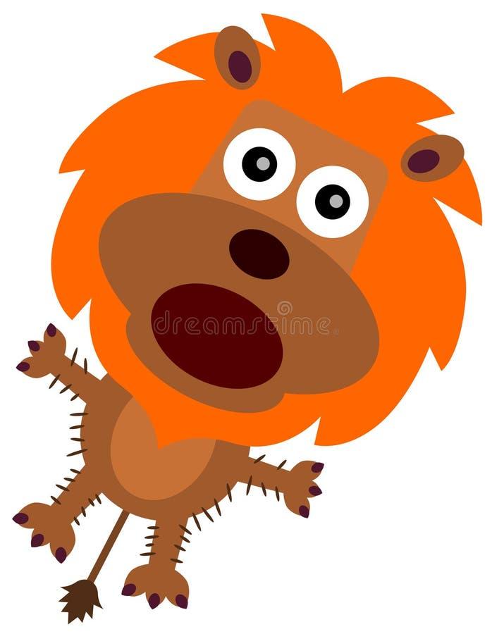 Leão temível ilustração stock