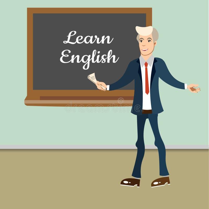 Leçon d'English de professeur illustration stock