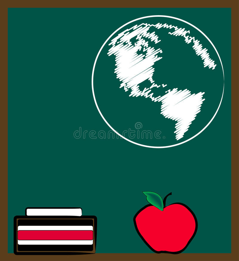 Leçon de géographie illustration de vecteur