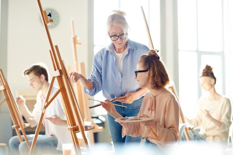 Leçon de la peinture images libres de droits