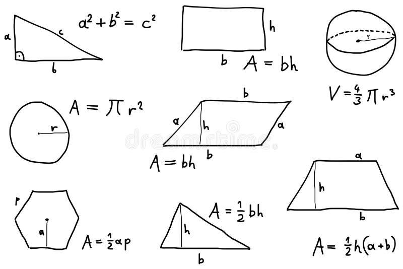 Leçon de maths illustration stock