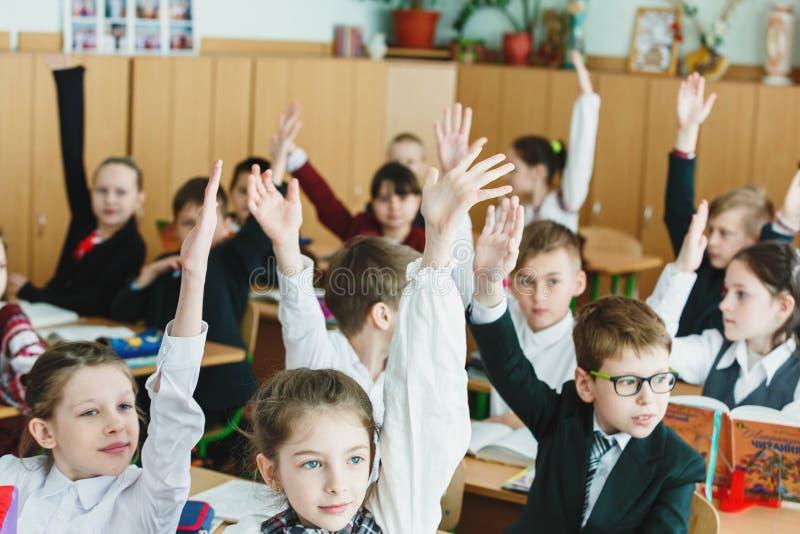 Leçons d'école en Ukraine photographie stock