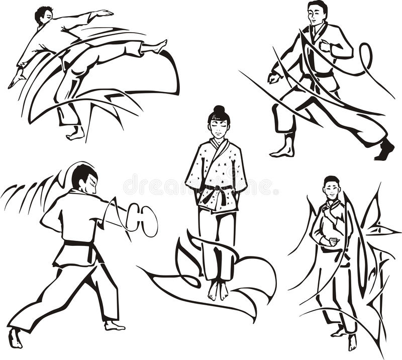 Leçons d'art martial illustration libre de droits