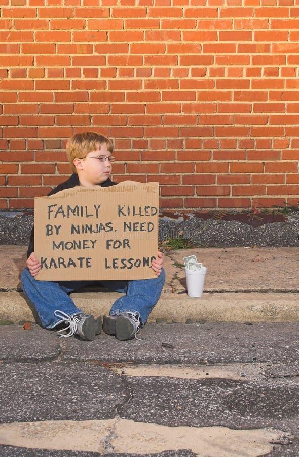 Leçons de karaté image libre de droits
