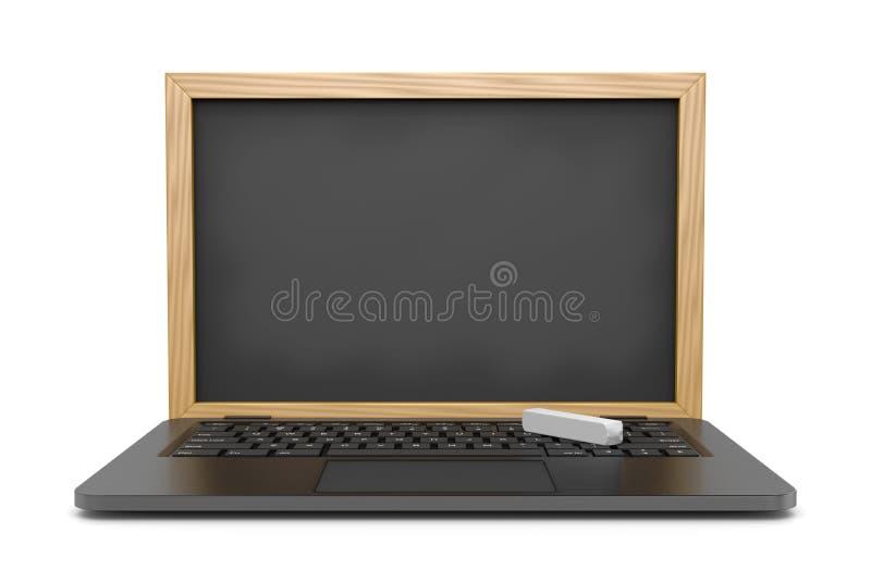 Leçons en ligne illustration stock