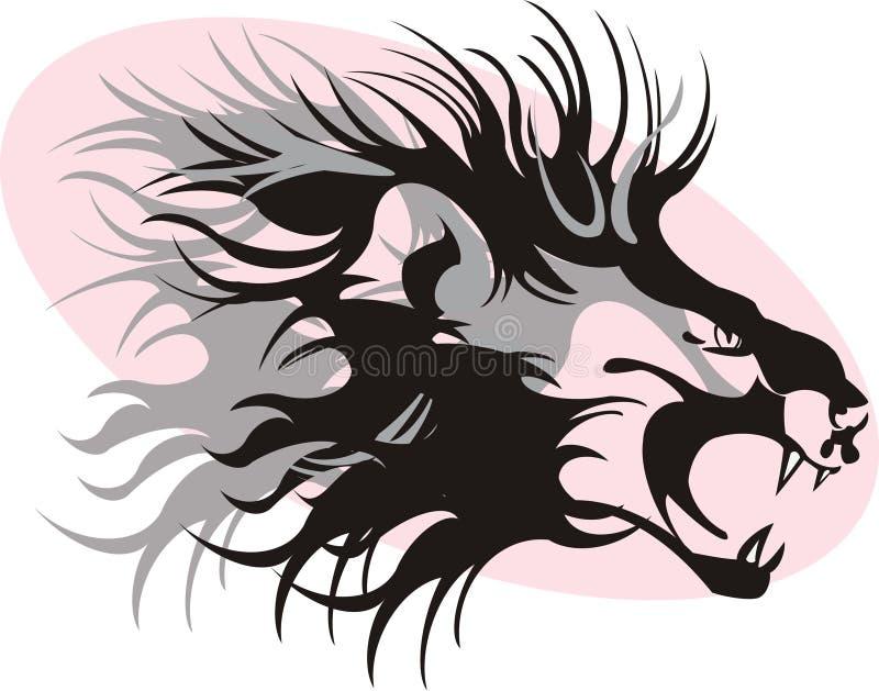 León ilustración del vector
