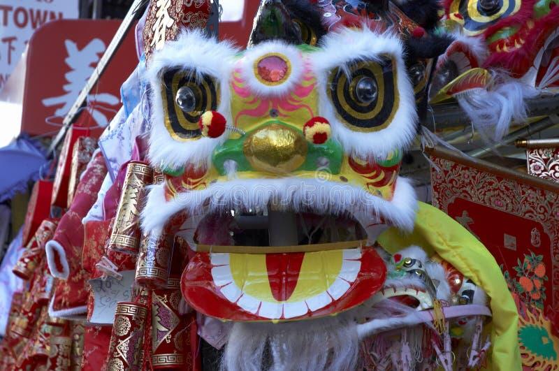 León chino 2 del Año Nuevo fotos de archivo