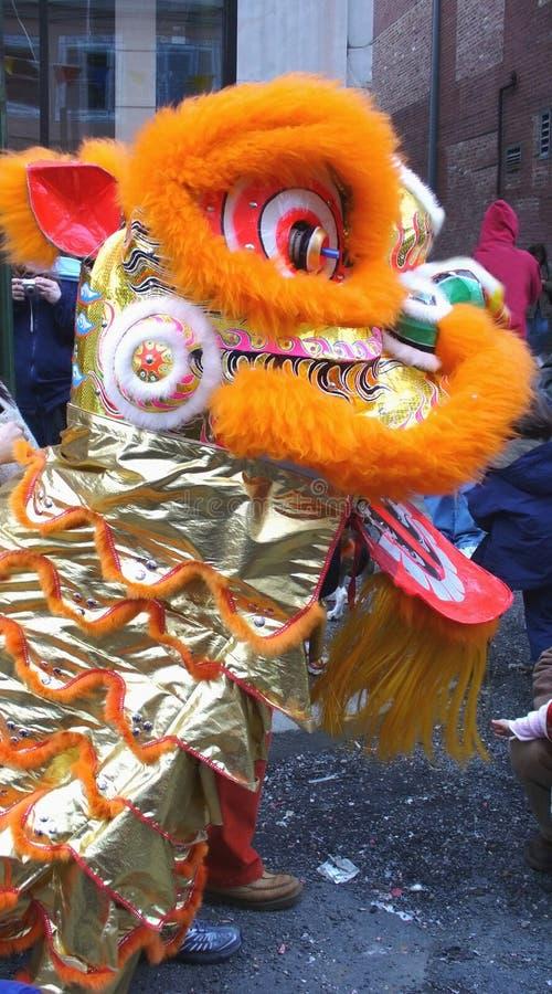 León chino del Año Nuevo fotografía de archivo