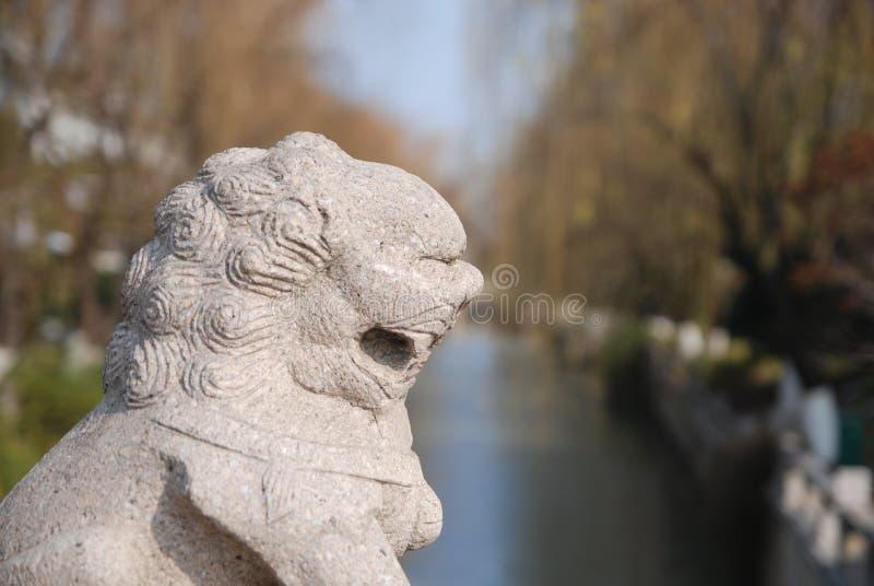 León chino del guarda fotos de archivo libres de regalías