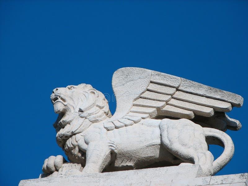 León con alas fotos de archivo