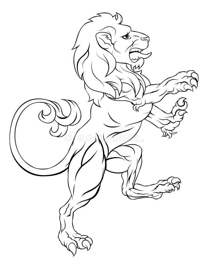 León de la cresta del escudo de armas libre illustration