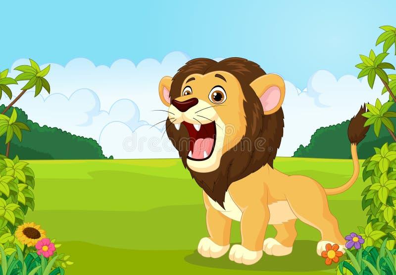 león de la historieta que ruge libre illustration