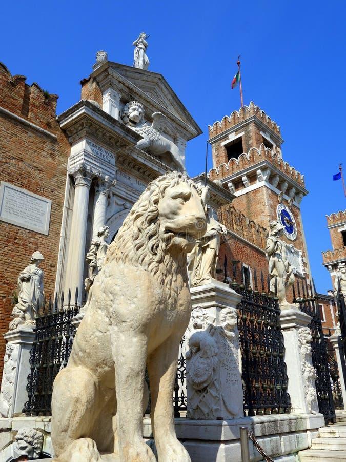 León de Pireo, Venecia fotos de archivo libres de regalías