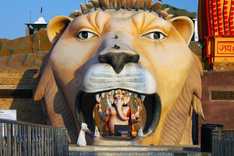 León de Shiva Temple, la India fotos de archivo libres de regalías