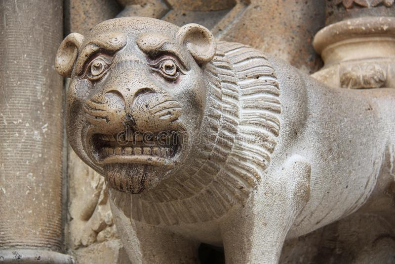 León del castillo Budapest de Vajdahunyad imagenes de archivo