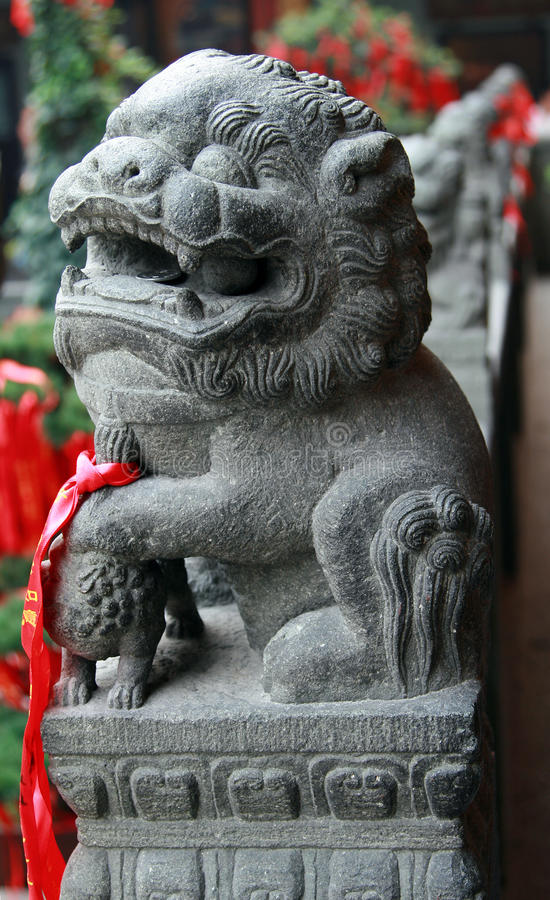 León del guarda del chino tradicional foto de archivo libre de regalías