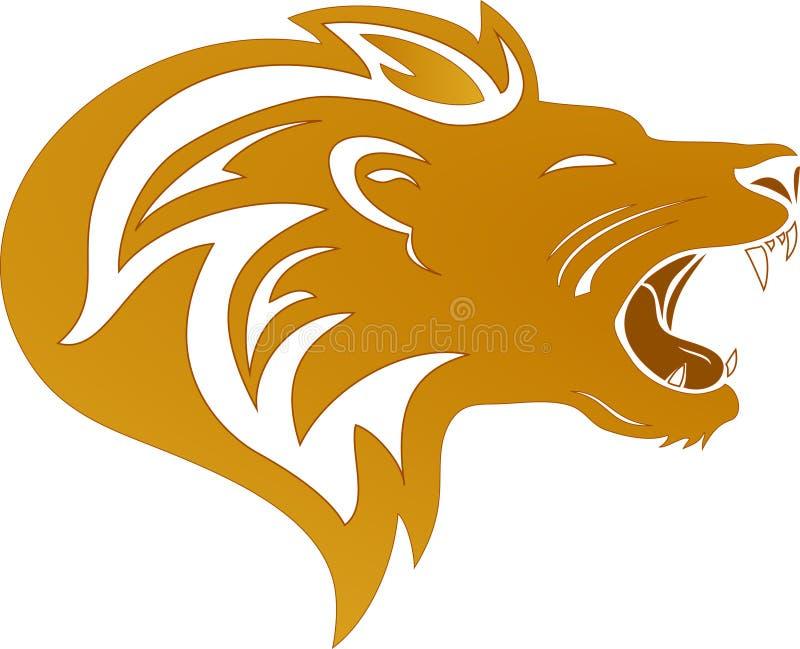León del oro ilustración del vector