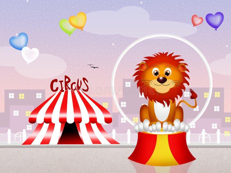 León en el circo libre illustration